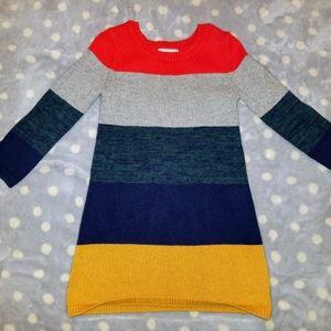 Super cute striped.sweater dress for toddler